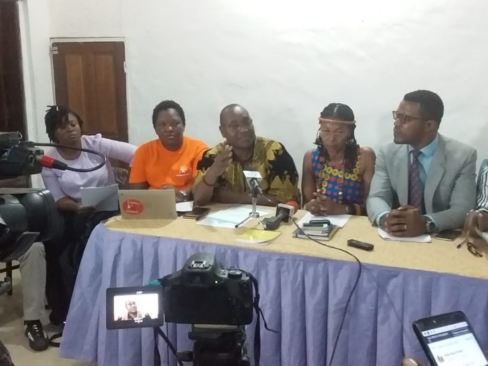 les osc présentent leur mémo le 25 septembre 2019 à Douala